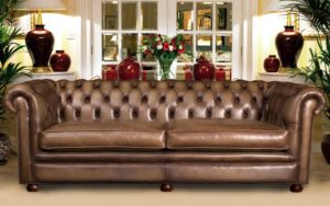 engelse chesterfield in leer