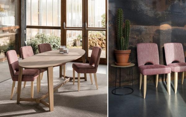 passe partout eethoeken eetkamerstoel gestoffeerde stoel modern tijdloos eigentijds