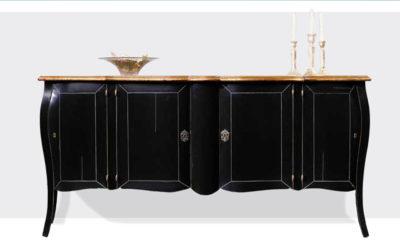 bournais klassiek dressoir shabby zwart elegant