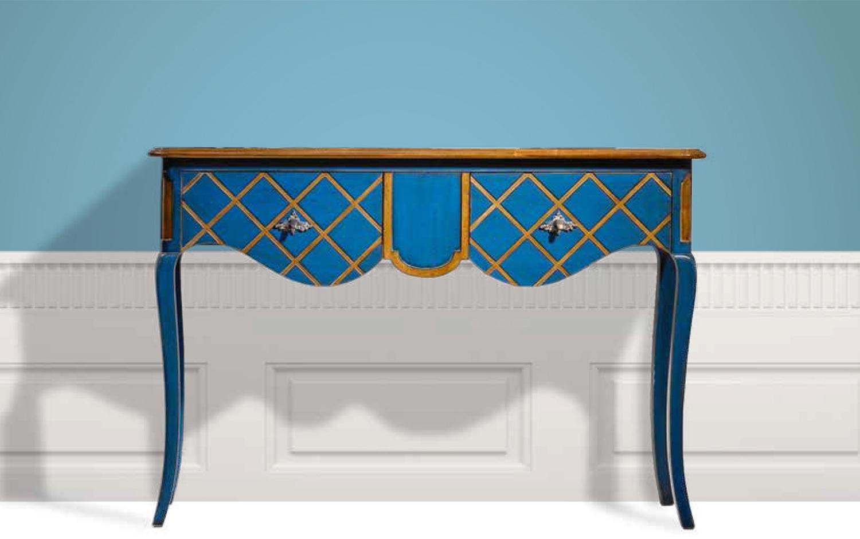 bohemian chique shabby kleur blauw siderale console frans