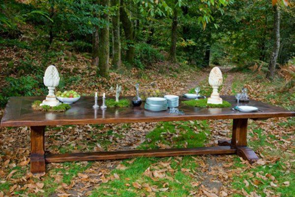 dikke eiken houten engelse farmhouse tafel kasteel