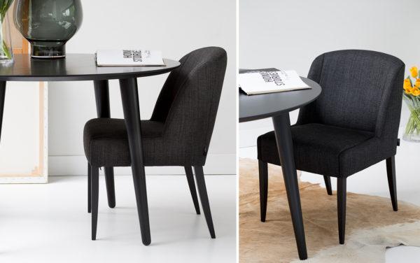 passe partout gestoffeerde stoel eigentijd modern tijdloos eethoek eetkamertafel