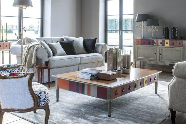 salontafel vierkant rechthoekig grange streepjes strepen kleuren
