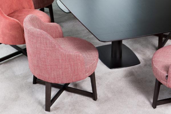 passe partout eetkamerstoel gesoffeerde stoel modern eigentijds tijdloos