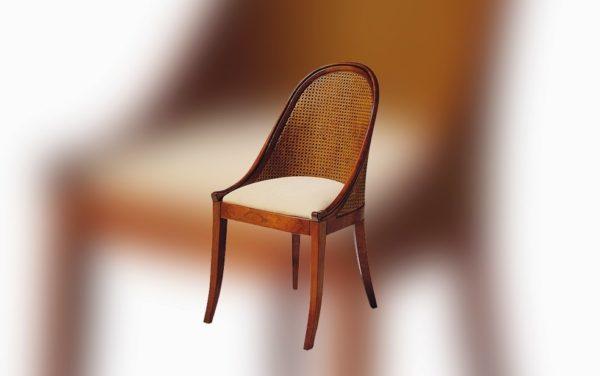 eetkamerstoel met webbing rug