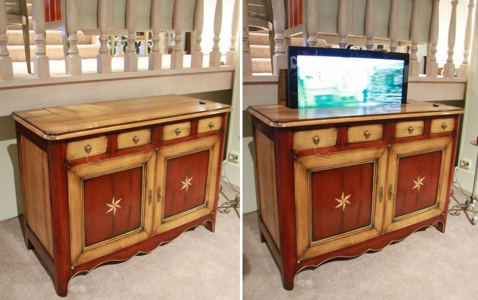tv meubel met lift monteren TVlift in kast dressoir