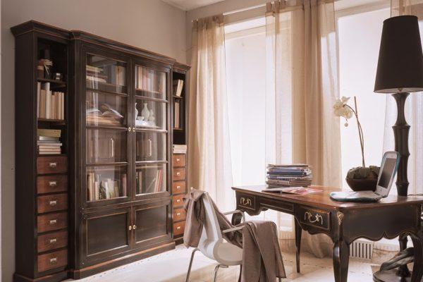 boekenkast zwart kersen assi