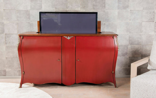 tv kast tv meubel klassiek tv dressoir the bournais met TV lift