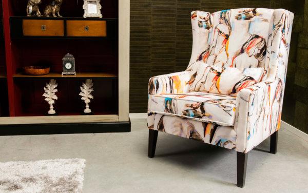 engelse moderne design oorfauteuil wingchair klassieke stoel gestoffeerd