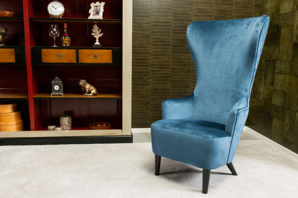 wingschair, oorfauteuil engelse stoel project meubels Giorgetti