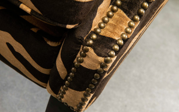 grote design oorfauteuil wingchair safari dierenprint