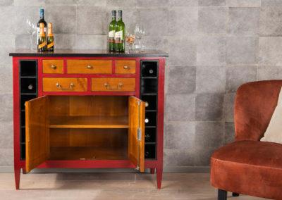 Wijnkastje Bayonne detail 1