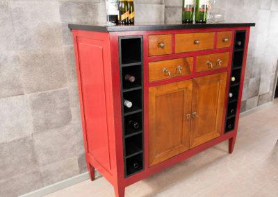 Wijnkastje Bayonne detail 3